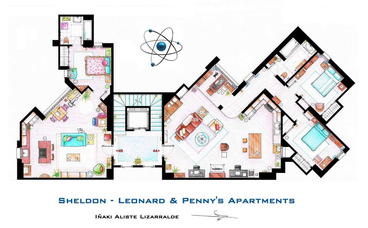 sheldon__leonard_and_penny_apartment_from_tbbt_by_nikneuk-d5c9t3t